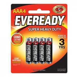 Eveready AAA4 Battery Super Heavy Duty