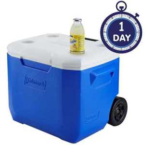 Coleman Cooler 60QT Wheeled blue
