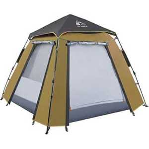 Hewolf Auto 3-4 Person Tent camel