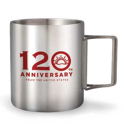 Coleman ODP 0633 Double Stainless Mug 120th Yrs Limited Edition 2021 350ml red