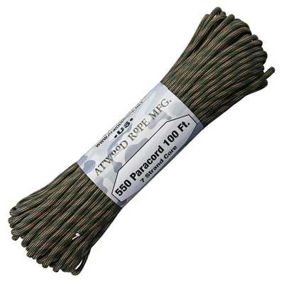 Atwood Rope MFG Paracord 550 Type 7 Strands 100 Feet Cavalry