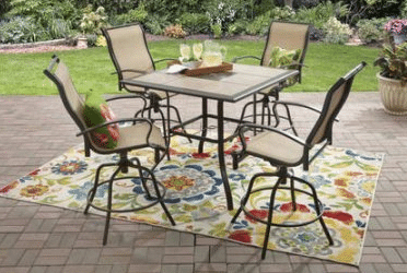 high tile top patio table and chairs