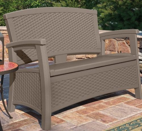 suncast elements storage bench with the