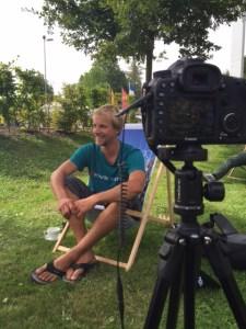Bikebergsteigen: Harald Philipp beim Interview