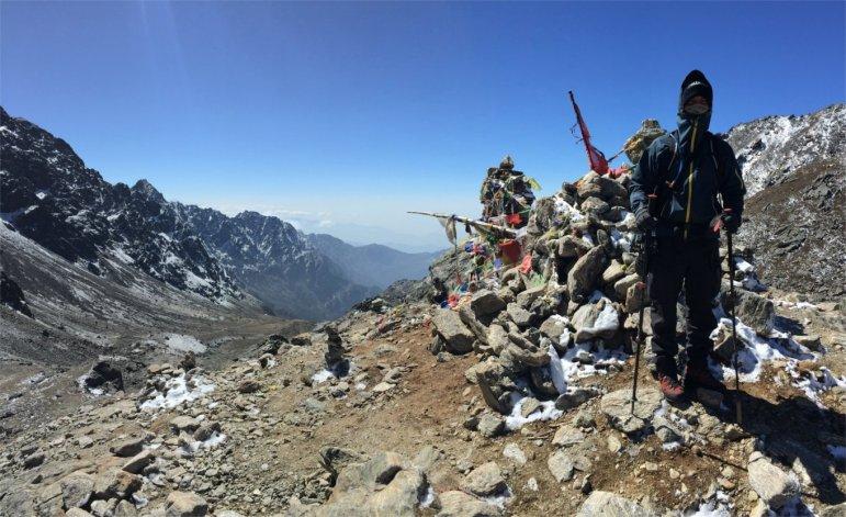 Tom Öhler am Laurebina Pass in Nepal