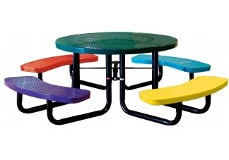 46 Round Perforated Childrens Tables  Outdoor School