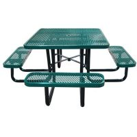 """46"""" Square Expanded Metal Table 
