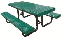 Radial Edge Perforated Picnic Table | Outdoor School Furniture