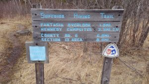 Superior Hiking Trailhead Sign