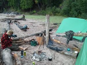 Camping Lake Superior Marquette Michigan