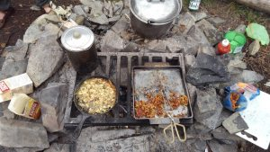 Cooking Fire Set up BWCA
