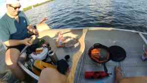 Lunch in the Canoe on the Lake