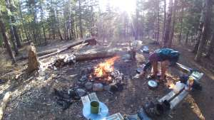 Superior Hiking Trail Camp Fire