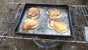 Trail Pancakes on Fire Grate