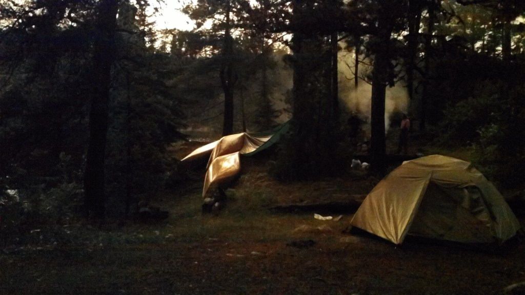 Post Storm Glow in Camp BWCA -  Boundary Waters Camping