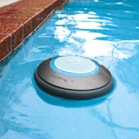 brookstone floating pool speakers