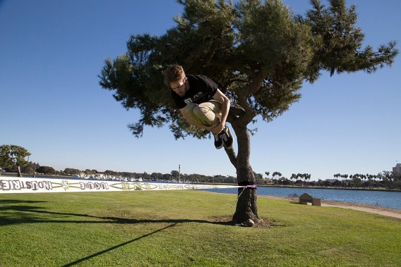 The basic slackline tricks