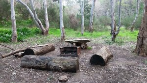 A campsite in the Adelaide hills..