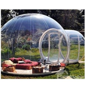 Clear inflatable tent.