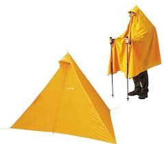 Yellow wearable tent