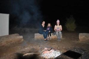 My girls around the campfire - 25.04.17