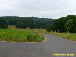 Das Tal hinter Heistenbach, viel Teer