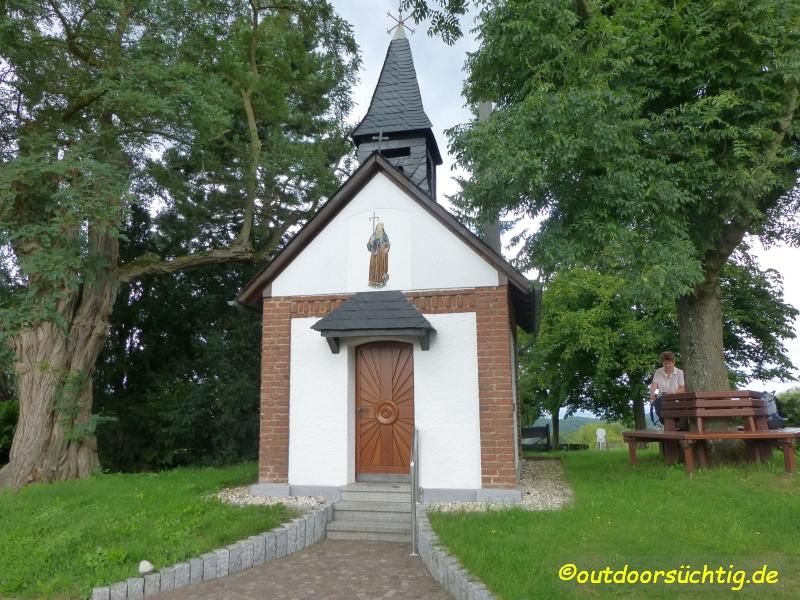 Die Kapelle in Nörtersberg, ein guter Platz für eine Pause