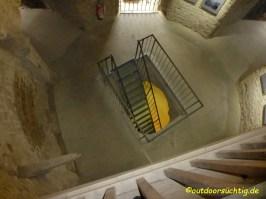 der Aufgang zum Turm