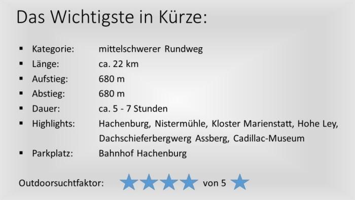 Das Wichtigste in Kürze - Hachenburg-Limbach
