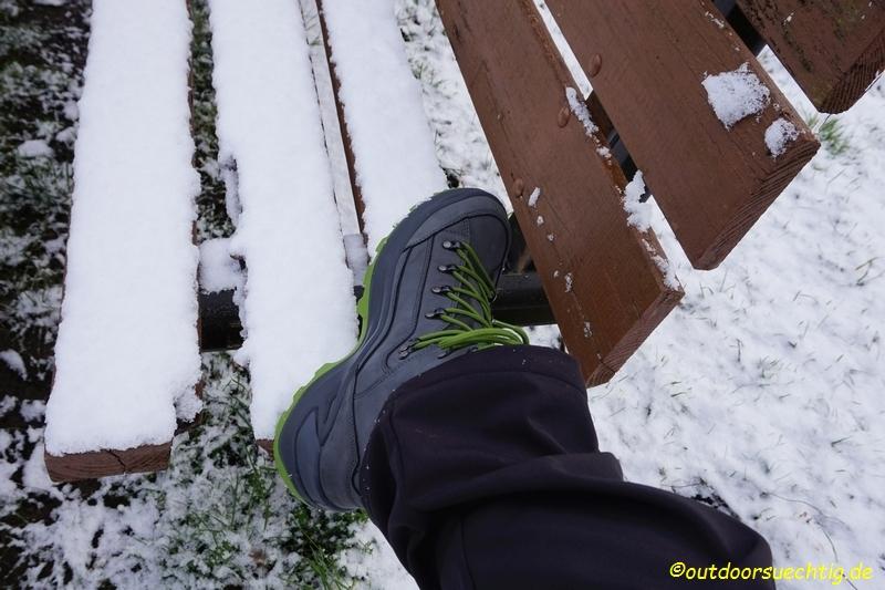 Schnee hat den Vorteil, dass die Schuhe immer schön sauber bleiben