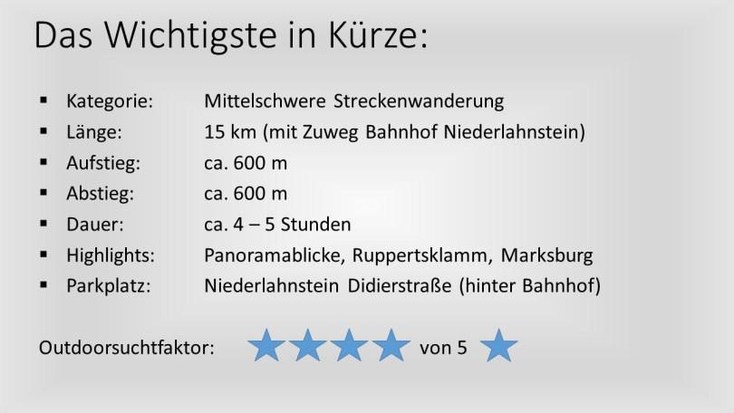 Das Wichtigste in Kürze - Rheinsteig 11