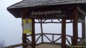 Rheinsteig - Dreiburgenblick