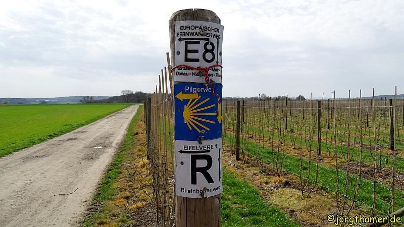 Wandern am Rodderberg - Wegemarkierungen