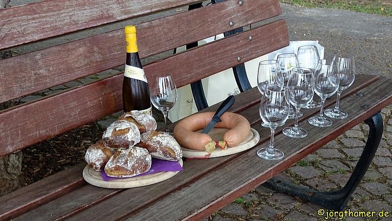 Brotzeit im Rheingau