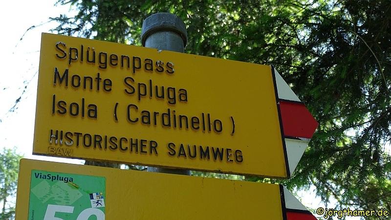 Wandern auf der Via Spluga