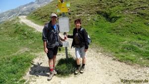 Via Spluga - Wegemarkierung am Splügenpass