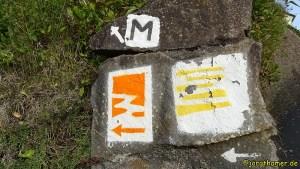 Wegemarkierung Traumpfad Hatzenporter Laysteig und Moselsteig