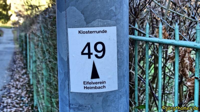 Klosterrunde Heimbach - Wegemarkierung