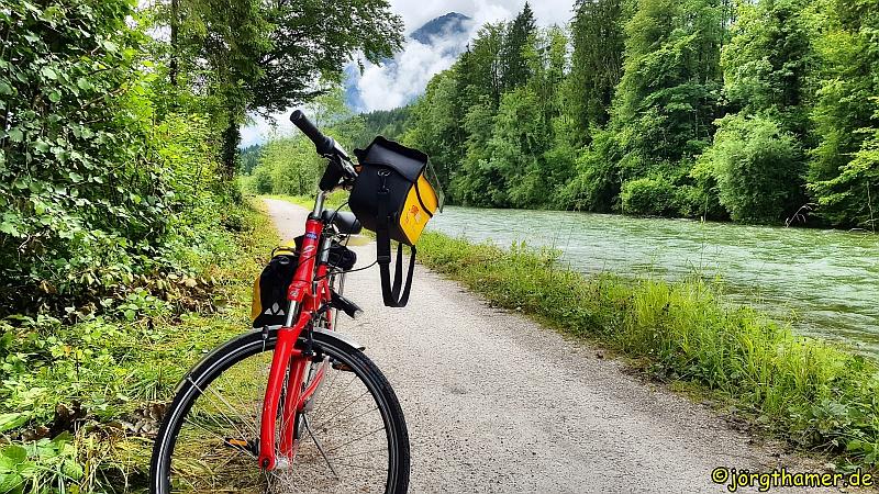 Eurobike Fahrrad an der Traun