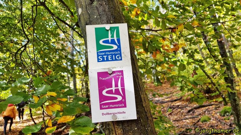 Wegemarkierung Saar-Hunsrück-Steig