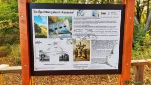 Infotafel zum Beobachtungsturm auf dem Streckelsberg