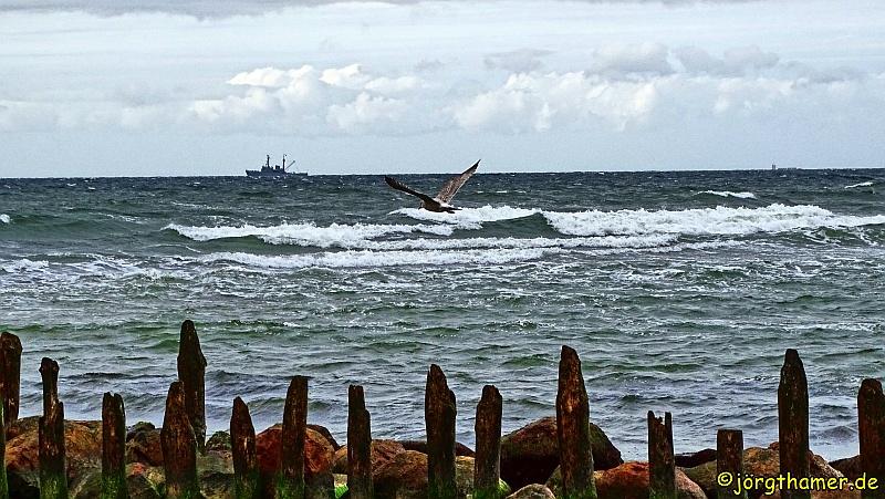 Steife Brise an der Mecklenburgischen Ostseeküste