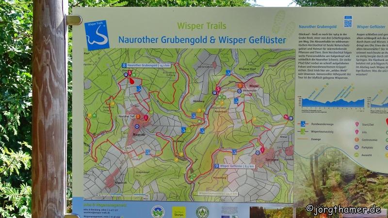 Wisper Trail Naurother Grubengold - Übersichtskarte