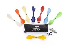 Tapirus Spork To Go V8 Set (With Bottle Opener & Carrying Case)