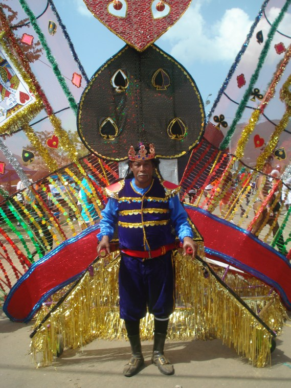 Float pulled by a masquerader