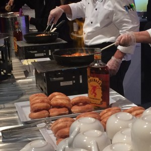 Disney Epcot 3D Dessert Discovery Flambeed Doughnuts Fireball Whiskey