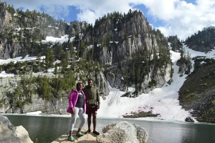 mom and jay bloomington lake