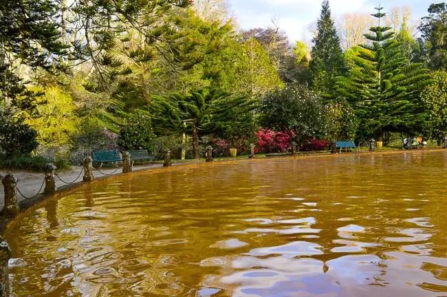Terra Nostra Park sao miguel azores hot spring