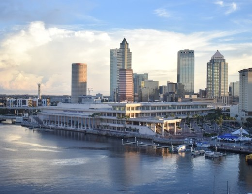 downtown tampa skyline view from westin hotel