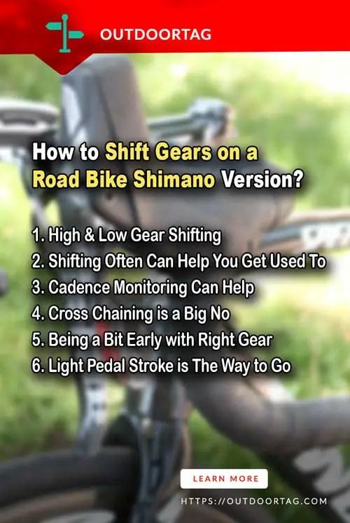 steps of Shift Gears on a Road Bike Shimano